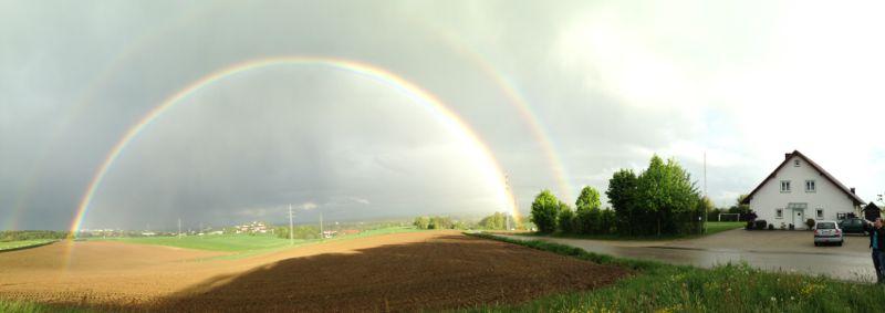 Regenbogen am Schützenheim_Max Kunz