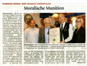 Ehrenmitgliedschaft für Prof. Gründel